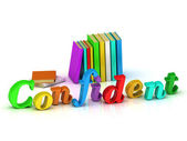 Confident 3d inscription bright volume letter  — Stock Photo
