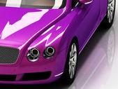 Premium lilac car with chromium wheels — Stock Photo
