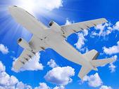 Avião se eleva para o céu — Foto Stock
