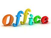 Office inscription bright colorfull volume letter  — Stock Photo