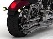 Motorcycle with exhaust view back — Stock Photo