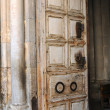 Entrance door in Church of Holy Sepulcher — Stock Photo