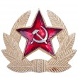 Stock Photo: Old Soviet cockarde, soviet insignia.