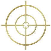 Golden Target — Stock Photo