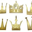Постер, плакат: Set of gold crowns from gold
