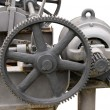 Heavy machinery painted in gray. Industrial equipment  — Foto Stock