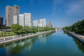 Soho di pechino, vicino al fiume — Foto Stock