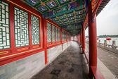 Traditional corridor in Beijing — Stock Photo