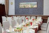 Elegant restaurant interior — Stock Photo