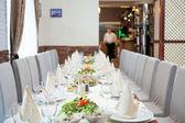 Elegancka restauracja wnętrza — Zdjęcie stockowe