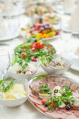 Tablesetting in restaurant — Stock Photo