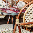 Typical Parisian coffee terrace — Stock Photo