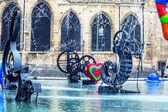 喷泉、 中心蓬皮杜,巴黎 — 图库照片