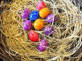 炫彩的复活节彩蛋 — 图库照片