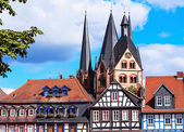 The medieval town center of Gelnhausen in Germany. — Stock Photo