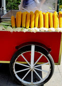Corn on wheels — Stock Photo