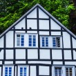 Black and white framework house in Freudenberg, Germany — Stock Photo