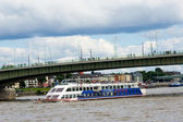 Deutz Bridge over Rhine River, Cologne — Stock Photo