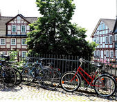Bicycles in Student City Marburg, Germany — Stock Photo