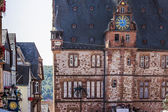 Historical town hall in old german university city Marburg — Stock Photo