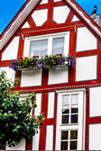 Colorful half timbered house in Battenberg, Germany, ancestral seat of the Mountbatten Family — Stock Photo