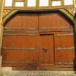 Renaissance door in Alsfeld, Germany — Stock Photo