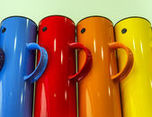 Colorful teapots — Stock Photo