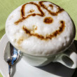 Cappuccino fanny face — Stock Photo