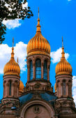 Russian Orthodox Church in Wiesbaden, Germany — Stock Photo