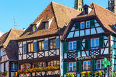 Colorful framework houses in Alsace, France — Stock Photo