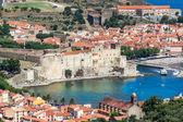 Collioure, historischen hafen in katalonien, frankreich — Stockfoto
