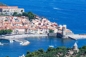 Collioure, historic harbor in Catalonia, France — Stock Photo