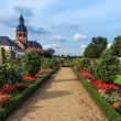 Convent Garden and Basilica in Seligenstadt on the Banks of the River Main,   Germany — Stock Photo