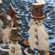 Wooden snow men — Stock Photo #37179609