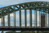 Hohenzollern Bridge over Rhine River, Cologne, Germany — Stock Photo