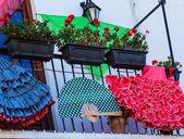 Tradiční španělský oblečení, bytové doplňky — Stock fotografie