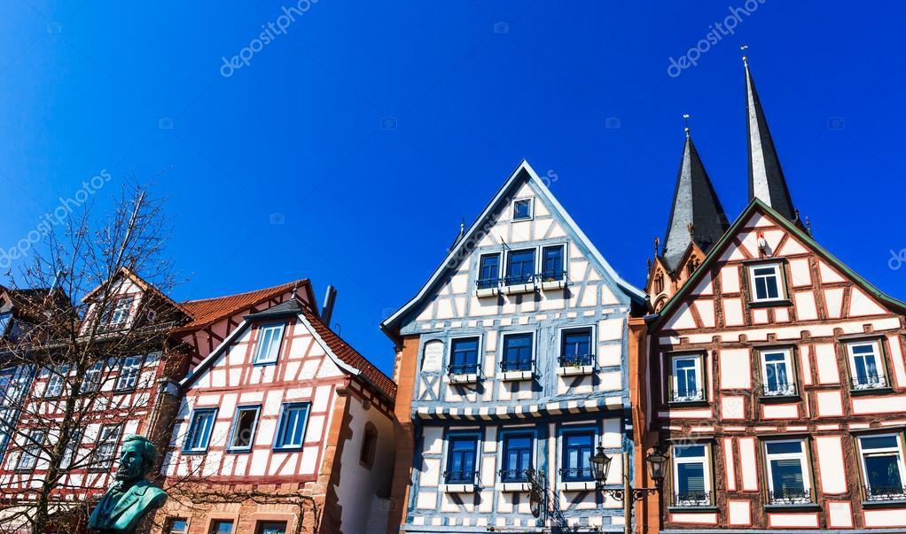fachwerkh usern in der historischen gelnhausen deutschland stockfoto moskwa 38651729. Black Bedroom Furniture Sets. Home Design Ideas