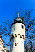 The Herstall tower of Aschaffenburg, Bavaria, Germany — Stock Photo