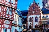 Bavarian Saint Peter and Alexander Basilica Minor in Aschaffenburg, Germany — Stock Photo