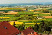 Colorful spring landscape in Odenwald, Hessen, Germany — 图库照片