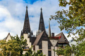Rhine river side in Cologne, Germany — Stock Photo