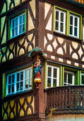 Half timbered house in Lohr am Main in Spessart Mountains, Germany — Stock Photo