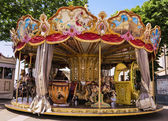 Carousel on the main square in Assisi, Italy — Stock Photo