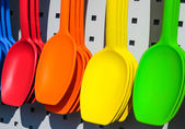 Multicolored gel spoons — Stock Photo