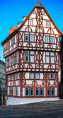 Colorful framework house in Aschaffenburg, Bavaria, Germany — Stock Photo