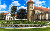 German Palace Rheinsberg on the Grienericksee, picturesque location, nature, architecture and art — Stock Photo