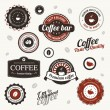 Vector labels with coffee stains — Stock Vector