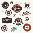 Vector labels with coffee stains — Grafika wektorowa