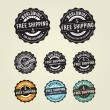 Free shipping badges — Stock Vector