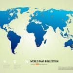 ������, ������: World map with airways